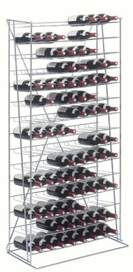 16 Caddie vínrekki krómaður